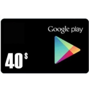 جوجل بلاي | امريكي 40 دولار | يرسل بالايميل و الرسائل النصية