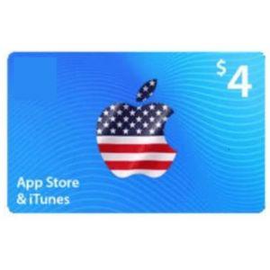 ايتونز   4 دولار امريكي   كود رقمي يرسل بالايميل و الرسائل النصية