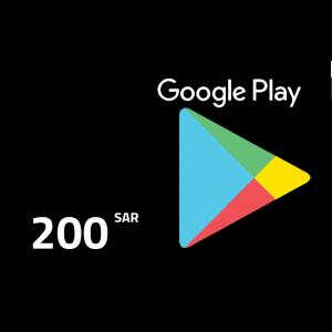 جوجل بلاي | سعوري 200 ريال | يرسل بالايميل و الرسائل النصية
