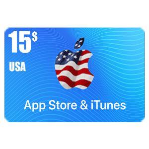 ايتونز   15 دولار امريكي   كود رقمي يرسل بالايميل و الرسائل النصية