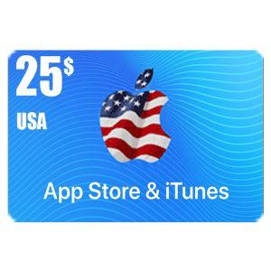 آيتونز امريكي 25 دولار | كود رقمي| يرسل على البريد الالكتروني والرسائل النصية