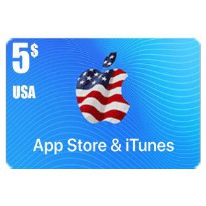 ايتونز | 5 دولار امريكي | كود رقمي يرسل بالايميل و الرسائل النصية