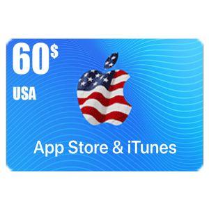 ايتونز | 60 دولار امريكي | كود رقمي يرسل بالايميل و الرسائل النصية