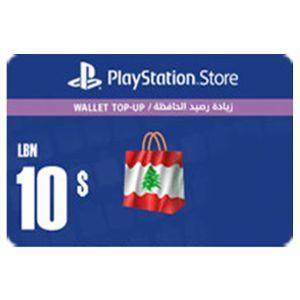 بلايستيشن ستور لبناني بطاقة رقمية   10 دولار   يرسل بالايميل و الرسائل النصية