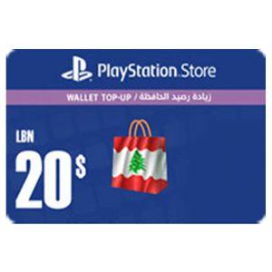 بلايستيشن ستور لبناني بطاقة رقمية   20 دولار   يرسل بالايميل و الرسائل النصية