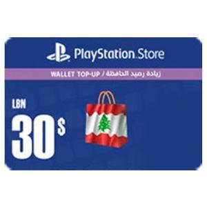 بلايستيشن ستور لبناني بطاقة رقمية   30 دولار   يرسل بالايميل و الرسائل النصية