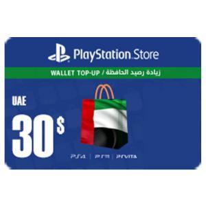 بلايستيشن ستور اماراتي بطاقة رقمية   30 دولار   يرسل بالايميل و الرسائل النصية