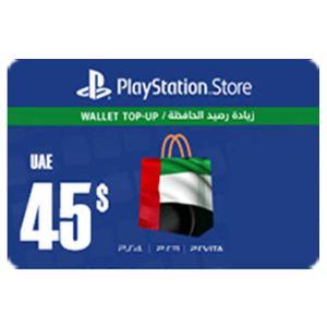 بلايستيشن ستور اماراتي بطاقة رقمية   45 دولار   يرسل بالايميل و الرسائل النصية