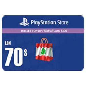 بلايستيشن ستور لبناني بطاقة رقمية   70 دولار   يرسل بالايميل و الرسائل النصية