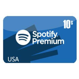 سبوتيفاي امريكي 10 دولار | كود رقمي | يرسل على الإيميل والرسائل النصية