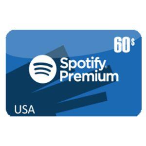 سبوتيفاي امريكي 60 دولار | كود رقمي | يرسل على الإيميل والرسائل النصية