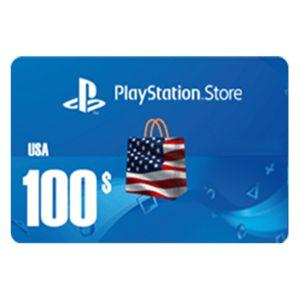 بلايستيشن ستور امريكي  بطاقة رقمية   100 دولار   يرسل بالايميل و الرسائل النصية