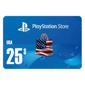 بلايستيشن ستور امريكي بطاقة رقمية  25 دولار