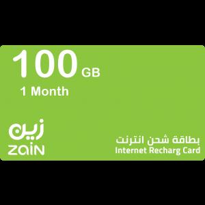 زين انترنت  100 جيجا واحد شهر